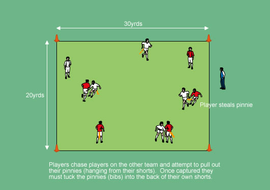 Pinnie Chase Agility - Warm Up Games - Soccer Drills