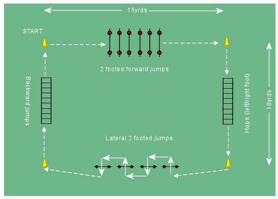 Soccer Agility/Plyometric Circuit 1 - Plyometric Drills
