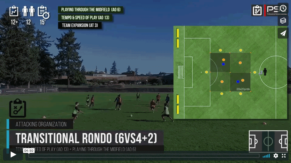 Rondo transitorio 6vs4 (+ 2)